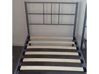 Two metal frame single beds - excellent condition