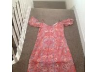 Ladies long pink dress size 8 from George asda