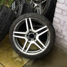 Special weekend offer for my 18inch low profile AMG Look a Like Alloys and tyres