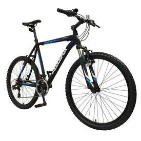 Mountain bike + helmet + tire pump
