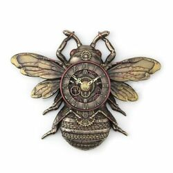 Steampunk Bee 10.85 Cold Cast Bronze Wall Clock