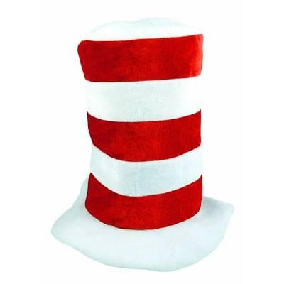 Kinder Mütze Rot/Weiß Gestreift Katze Im Hut Buch - Katze Im Hut Buch Kostüm