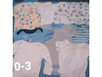 64 Items, Baby Boy Bundles Of Clothes Newborn, 0-3, 3-6 ect Next, M&S, Nutmeg, Disney ect