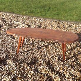 Handmade coffee table, possibly oak