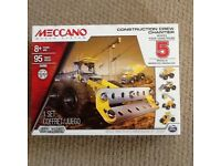Meccano construction crew kit, makes 5 models, UNOPENED, IMMACULATE CONDITION