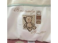 Mamas and Papas Barney Bear Cot Bed Bumper and Quilt £15.00 Freshly washed.