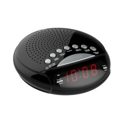 "Axess CKRD3801 Dual Alarm clock with AM/FM Digital Radio, 0.6"" red LED display"