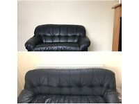 Black 2 and 3 seater couches