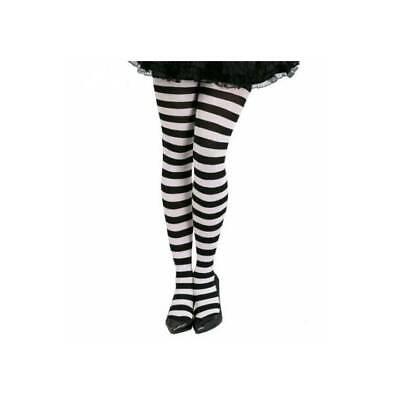 Damen Schwarz und Weiß Gestreift Strumpfhose Halloween Alice - Schwarz Und Weiß Gestreifte Kostüm