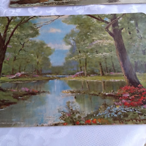 VINTAGE AVON LITHO ON PLACEMATS BY ROBERT WOOD
