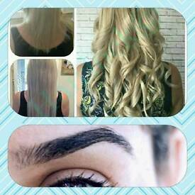 Stunning hair extensions or those HD brows look no further free consultations