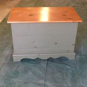 Solid pine blanket box and console table