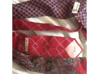 Ties x3. Simpson, pink, and michelsons . 100% Silk