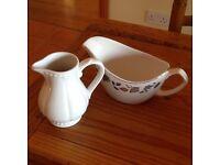 Gravy boat and cream/milk jug