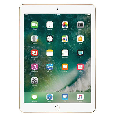 "Apple iPad 9.7"" 128GB Gold 5th Age MPGW2LL/A 2017 Model Brand New"
