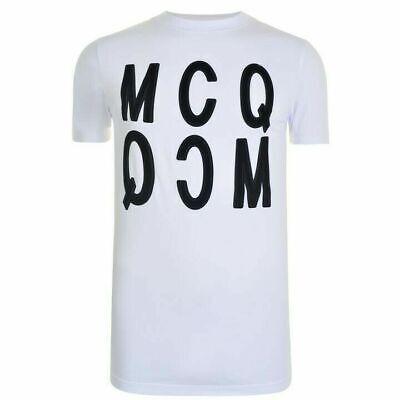 BNWT McQ Authentic Alexander McQueen Velvet Logo Men's T-Shirt  Medium Size