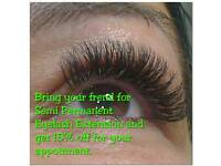 Semi Permanent Individual, Volume Eyelash Extension. Manchester