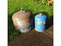 Used camp gas bottles
