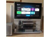 "Panasonic Viera TH-42PE30 42"" Plasma Television on stand plus home theatre"