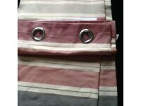 2 pairs of beautiful marks and Spencer's red cream and grey stripes