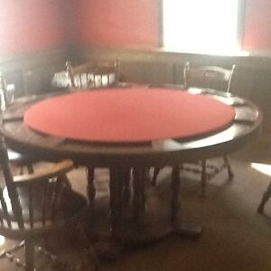 Poker table seats people in excellent shape