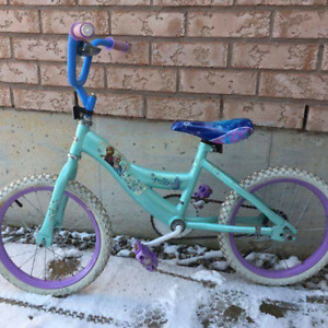 Girls 14inch Frozen bike