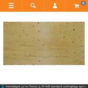 8 sheets of 3/4 plywood