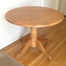 Circular wooden dining table and two chairs South Yarra Stonnington Area Preview