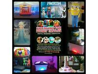 ☆BOUNCY CASTLE HIRE☆DISCO DOME☆CANDY FLOSS SLUSH MACHINE ICE CREAM POPCORN☆FROZEN MINIONS MASCOTS