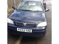 2003 Vauxhall Astra 1.6 twinnport engine.. 8 mths mot,changed cambelt,central lock,excellent runner.
