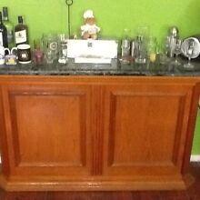 Nice Solid Wood & Marble Bar / Side Board @ Logan Woodridge Logan Area Preview