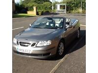 DIESEL CONVERTIBLE 2006 SAAB 9-3 LINEAR DIESEL CONVERTIBLE YEARS MOT,SUPER ALL ROUND CONDITION.