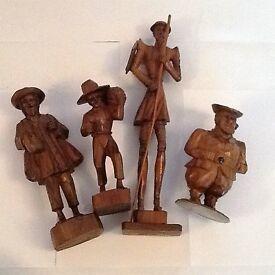 bundle of 4 wooden figures