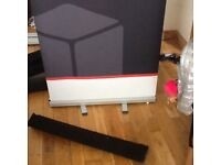 Roll up advertising banners with carry cases