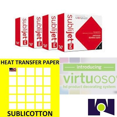 Sawgrass Virtuoso Sg400sg800 Ink Set Cmyk Plus 200 Sheets Of Sublicotton Combo