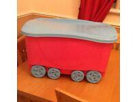 Pink/blue kids storage box with lid