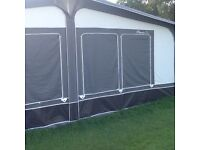 Caravan Awning for Sale (7 weeks old). Two floor covers included in price.