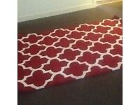 Red/ white rug , brand new still in package,must be seen