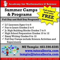 Math, English, and Science Summer Camps!