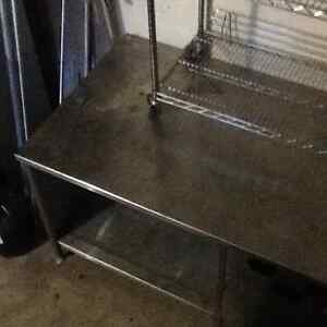 Stainless steel table with cup dispensers Strathcona County Edmonton Area image 4