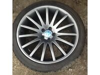 FOUR VW GOLF 18in ALLOY WHEELS AND TYERS LIKE NEW