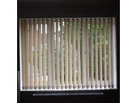 Verticle blinds window size -2 X W 178cm D117 & 1x W 176.5 D 117 cm