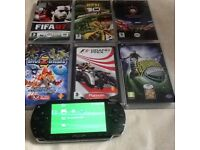 Psp very good working condition with games accessories accessories