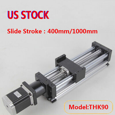 Ball Screw Linear Cnc Slide Stroke 1001000mm Long Stage Actuator Stepper Motor