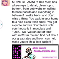 MUM'S CLEANING  *Cambridge only