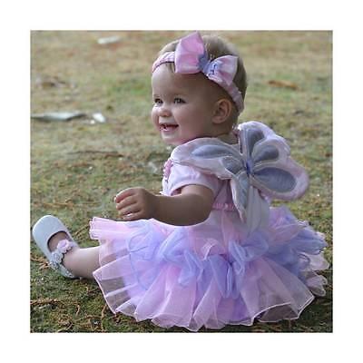 Kleine Fee Kleinkind Kostüme (Mädchen Baby Kleinkind Fee Engel Flügel Prinzessin Tutu Maskenkostüm)