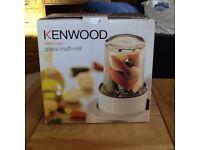 Kenwood chef multi mill attechement and 3 jars AT320B