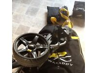 Powercaddy freeway titanium electric power golf trolley with bag and cover