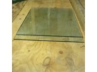 "2 x Pieces Of Glass 26"" x 19"" x 1/4"" For Shelving"