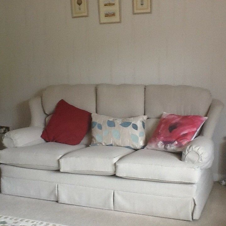 Marks And Spencer Leather Sofa: Marks And Spencer 3 Piece Suite, Light Beige,removable